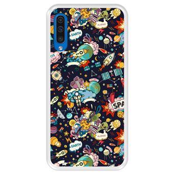Capa Tpu Hapdey para Samsung Galaxy A50 2019 | Design Padrão de Constelação | Galáxia 4 - Transparente