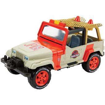 Mattel Games Jurassic World Jeep Wrangler Plástico brinquedo sobre rodas Bege e Preto e Vermelho