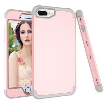 Capa TPU híbrido Dourado rosa / cinza para Apple iPhone 8 Plus/7 Plus/6s Plus/6 Plus