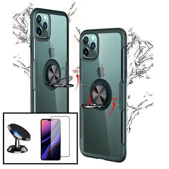 Kit Phonecare | Capa 3x1 Clear Armor + Película Vidro Temperado 5D Full Cover + Suporte Magnético para Carro iPhone X / XS