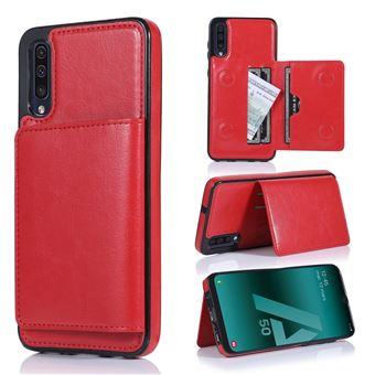 Capa Magunivers | PU + TPU com suporte e vários titulares de cartão Vermelho para Samsung Galaxy A50/A50s/A30s