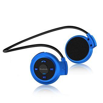 Auriculares Bluetooth Klack para desporto com radio fm e entrada SD - azul