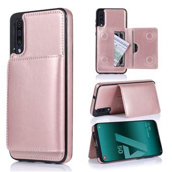 Capa Magunivers | PU + TPU com suporte e vários titulares de cartão Rosa Dourado para Samsung Galaxy A50/A50s/A30s