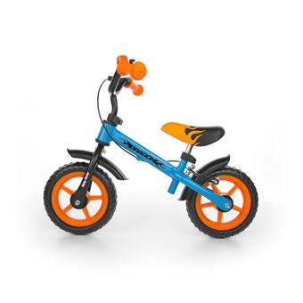 Bicicleta sem Pedais Milly Mally Dragon Z Hamulcem   Preto, Azul, Laranja