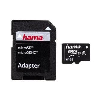 cartão de memória Hama 64GB microSDXC 64GB MicroSDXC UHS Class 10  Preto