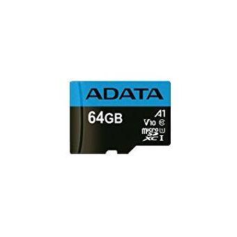 cartão de memória ADATA 64GB, microSDHC, Class 10 64GB MicroSDHC UHS-I Class 10  Preto e Azul