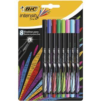 BIC Intensity Fine caneta de feltro Fina Preto, Azul, Verde, Azul Claro, Verde claro, Rosa, Roxo, Vermelho 8 peça(s) Multi cor