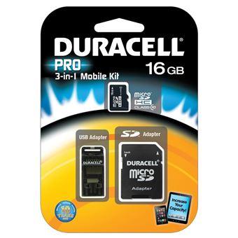 cartão de memória Duracell 16GB MicroSDHC  Class 10  Preto
