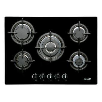 Placa de Cozinha a Gás Vitrocerâmica Encastrável CATA L 705 CI Preto