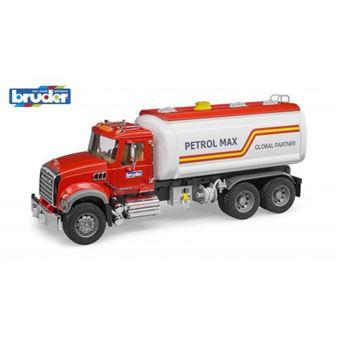 Tanque de Transporte de Combustível de Brincar Bruder Mack Granite