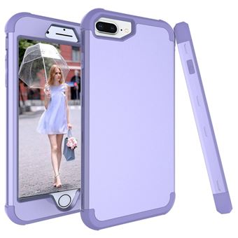 Capa TPU híbrido roxa para Apple iPhone 8 Plus/7 Plus/6s Plus/6 Plus