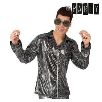 Casaco para Adultos Th3 Party Disco Brilho Prata M/L