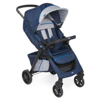 Carrinho de bebé Chicco 00079434970000   com sistema de viagem 1 lugar(es) Azul, Cinzento