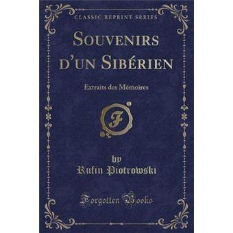 souvenirs Dun Sibérien Paperback -