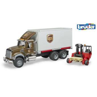 Camião UPS de Brincar Bruder com Porta Paletes Mack Granite
