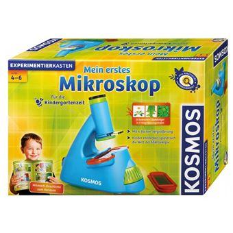 Kosmos 634032 Microscópio conjunto de ciência e brinquedos para criança Azul e Verde e Vermelho