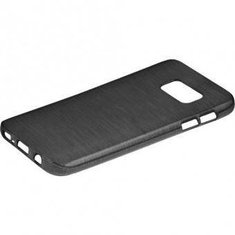 Capa Lmobile em Gel Estilo Metálico para Samsung Galaxy S7 Preto Metálico