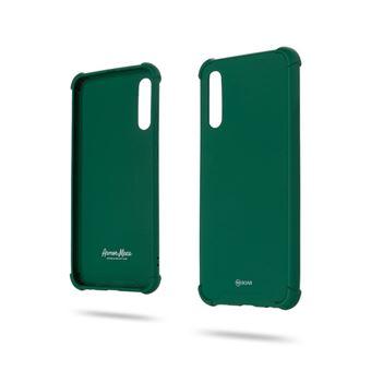 Capa Magunivers para Samsung Galaxy A50 e TPU Estilo Anti-Gota Macaroon Verde Escuro