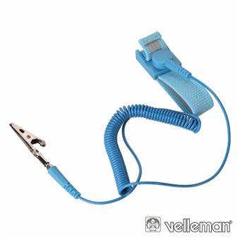 Pulseira Anti-Estática Velleman Azul 20X230Mm
