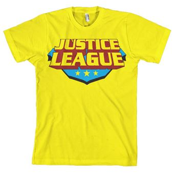 T-shirt Justice League Classic Logo | Amarelo | S