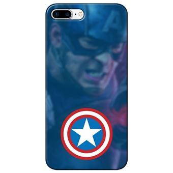 Capa Personalizada MakeUCase para iPhone 8 Plus Capitão América SH01 Transparente