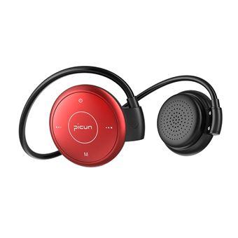 Auscultadores Desporto Bluetooth Magunivers PICUN T6 Gancho com Microfone Vermelho