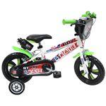 """Bicicleta de Criança Denver Bike RT Boy Skate   12"""" em Ferro   Preto, Verde e Branco"""