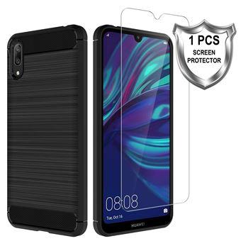 Capa Protetora Transparente e Película Ecrã de Vidro Temperado Advansia para Huawei Y7 2019