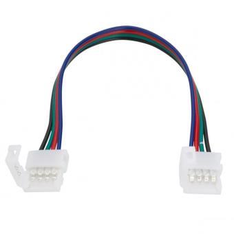 Conector para Fita de LEDs 12/24VDC SMD5050 10mm RGB 4 Vías Duplo