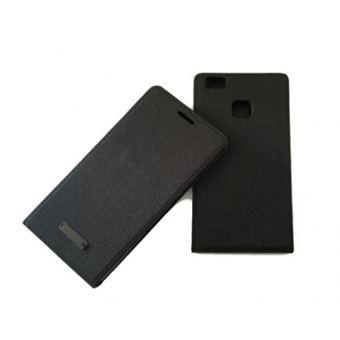 Capa Lmobile Flip Slim Canvas para Huawei P9 Lite Preto