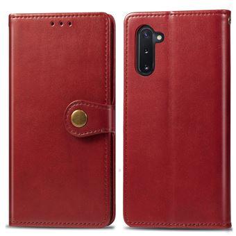 Capa Magunivers TPU + PU Lichia Vermelho para Samsung Galaxy Note 10