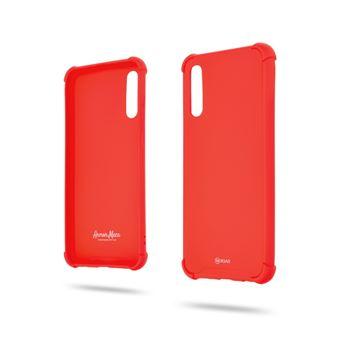 Capa Magunivers para Samsung Galaxy A50 e TPU Estilo Anti-Gota Macaroon Vermelho
