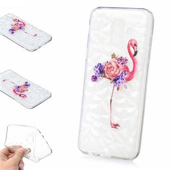 Capa Magunivers TPU impressão de padrões 3D superfície diamantada flores e flamingo para Samsung Galaxy A6 (2018)