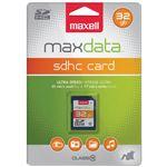 cartão de memória Maxell 32GB SDHC  Class 10  Azul