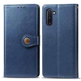 Capa Magunivers TPU + PU Lichia Azul para Samsung Galaxy Note 10