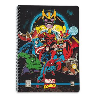Caderno Capa Polipropileno A4 4X4 Marvel Comics Avengers