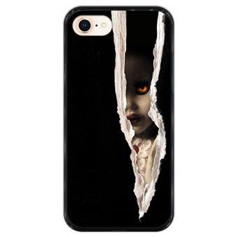 Capa Hapdey para iPhone 7 - 8 Design Fique Fora do Escuro em Silicone Flexível e TPU Preto