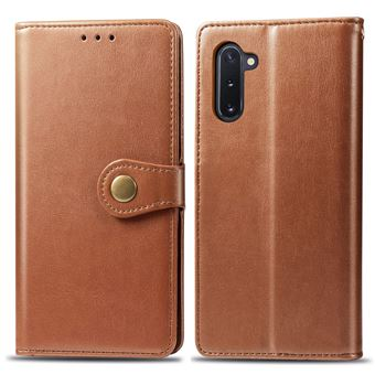 Capa Magunivers TPU + PU Lichia Castanho para Samsung Galaxy Note 10