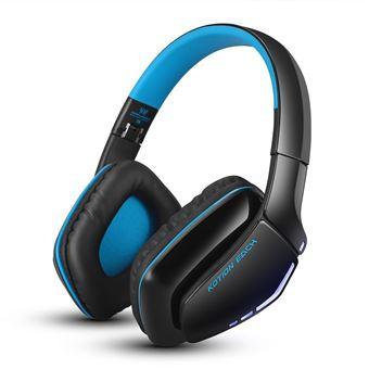 Auscultadores Gaming Bluetooth Magunivers KOTION CADA B3506 Dobrável para Jogos com Microfone Azul Escuro