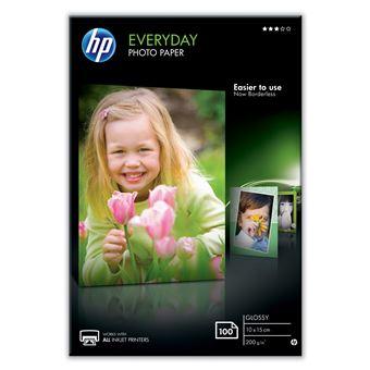 HP Everyday papel fotográfico Branco Brilho