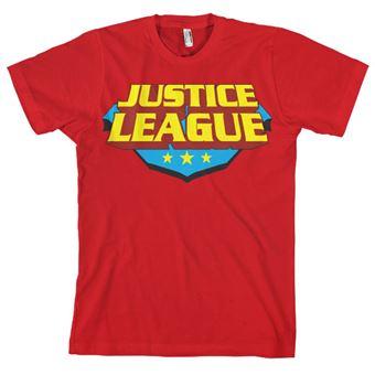 T-shirt Justice League Classic Logo   Vermelho   L