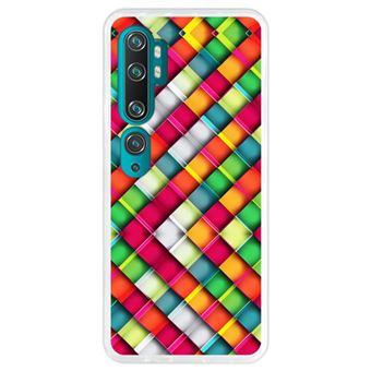Capa Hapdey para Xiaomi Mi Note 10 - Note 10 Pro - CC9 Pro   Silicone Flexível em TPU   Design Abstrato, quadrado mosaico geométrico moderno - Transparente