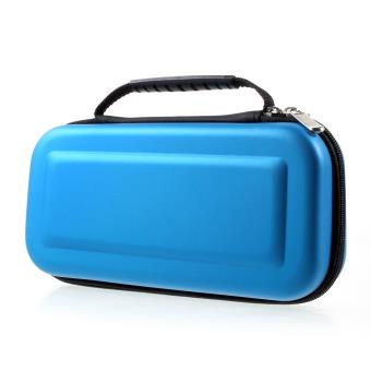 Mala de transporte rígida de viagem portátil caixa com fecho de correr para a Nintendo Interruptor - Azul