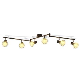 Aplique de Arame vidaXL estilo industrial com 6 bulbos LED preto