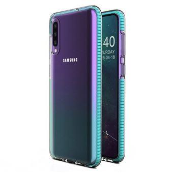 Capa HURTEL Spring para Samsung Galaxy A40 | Gel TPU com Marca - Azul Claro