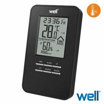 Termómetro Digital Well Interior Relógio com Alarme