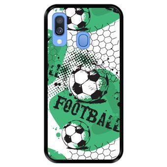 Capa Tpu Hapdey para Samsung Galaxy A40 2019 | Design Padrão de Futebol 1 - Preto