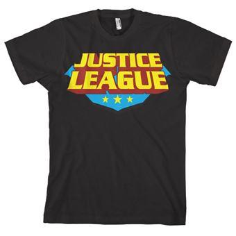 T-shirt Justice League Classic Logo | Preto | XL