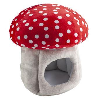 Lumo Stars Mushroom Pelúcia casa de bonecas Cinzento e Vermelho