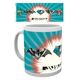 Caneca de Cerâmica GB Eye DC Comics Justice League Badges